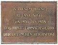 Gedenktafel Rognitzstr 9 (Westend) Erstes Fernsehstudio der Deutschen Reichspost.jpg