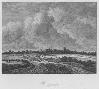 Extensive field landscape with a track and a church in the distance