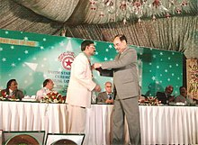 Gen Javed Ashraf Qazi awarding South Asia Millennium Gold Medal.jpg