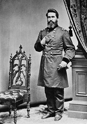 Indian Territory in the American Civil War - Major General James G. Blunt, commander of U.S. forces in the Indian Territory