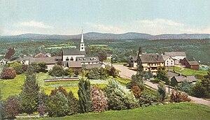 Dublin, New Hampshire - Town center in 1906