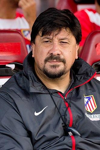 Germán Burgos - Burgos with Atlético Madrid in 2013.