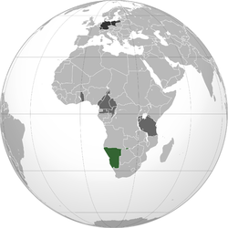 Green: German South West Africa Dark Grey: Other German possessions Black: German Empire