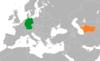 Lage von Deutschland und Turkmenistan