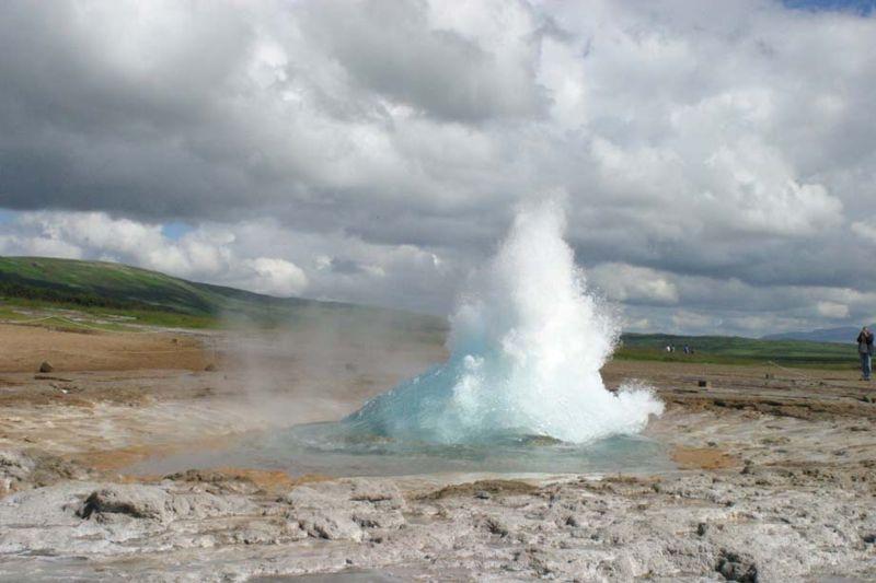 Islande Geyser Volcan