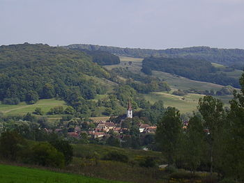 View of Gherdeal (Gürteln) village, Sibiu Coun...