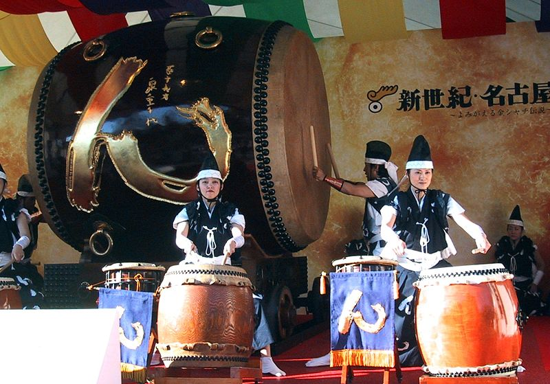 File:Giant Taiko Drum Nagoya.jpg