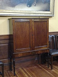 The cabinet which once contained the collections of Giesecke, in the RDS (Source: Wikimedia)