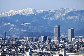 Gifu City Tower 43 and Gifu Sky Wing 37 from Twinarch138