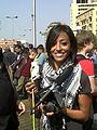 Gigi Ibrahim at the 2011 Egyptian protests.jpg
