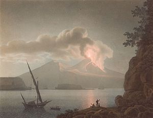Giovanni Battista Lusieri - Eruption on Vesuvius by night, 1793
