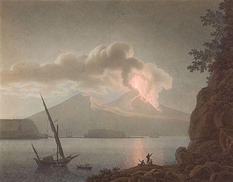 Giovanni Battista Lusieri - Eruption on Vesuvius by night, 1793