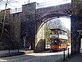 Glasgow tram 22 under Bowes-Lyon Bridge, Crich Tramway Museum (geograph 6103148).jpg