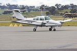 Goair Products (VH-DVF) Beechcraft 76 Duchess taxiing at Wagga Wagga Airport.jpg