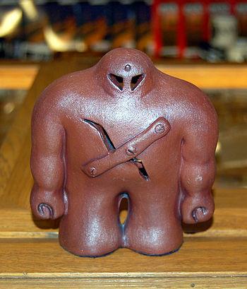 figure of Prague's golem