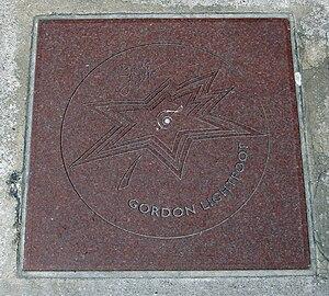 Gordon Lightfoot - Lightfoot's star on Canada's Walk of Fame