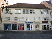 Geburtshaus in Gotha, Neumarkt 26 (Quelle: Wikimedia)