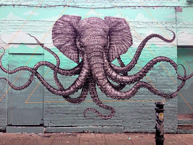 Street art d'Alexis Diaz sur les murs de Shoreditch à Londres.