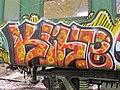 Graffiti sur les wagons de l'ecomusée de Marquèzes 01.jpg