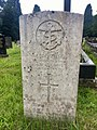 Gravestone of Steward Trevor Toghill of the Naval Auxiliary Personnel (Merchant Navy) H.M.S. Flaunt at Ty Rhiw cemetery, July 2020.jpg