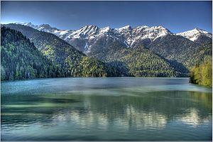 Lake Ritsa - Image: Greater Ritsa Lake