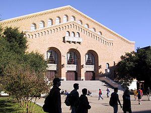 Texas Longhorns women's basketball - Front façade of Gregory Gymnasium