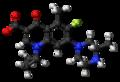 Grepafloxacin zwitterion ball.png