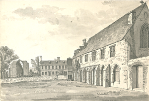 Greyfriars, Lincoln - The ruins of St Swithin's Church and the Greyfriars, Lincoln c.1784