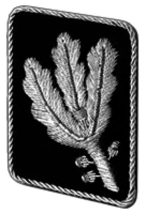 Gruppenführer - Gorget patch until April 1942 (Allgemeine SS and Waffen-SS)