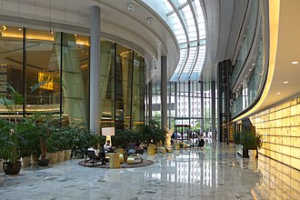 Guangzhou International Finance Center - Image: Guangzhou IFC Lobby 2016