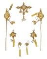 Guldsmycken med orientaliska pärlor, 1804 - Hallwylska museet - 98887.tif