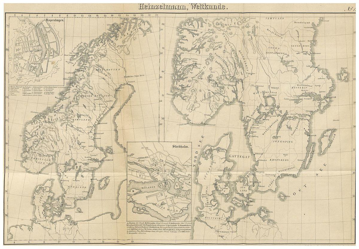 File Heinzelmann 1847 01 395 Kartenblatt Danemark Norwegen