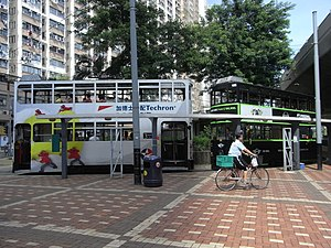 HK Sai Ying Pun Des Voeux Road West Whitty Street Tram Station walkway.JPG