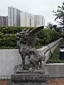 HK Shatin 沙田明星畫舫 Star Seafood Floating Restaurant 三不像麒麟 Qilin dragon head with wings Roof garden.jpg