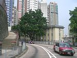 HK Sheung Wan Mid-Level Bonham Road Taxi view CenterPlace.JPG