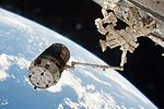 HTV-6 grappled by the International Space Station's robotic arm (2).jpg