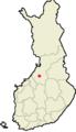 Haapavesi Suomen maakuntakartalla.png