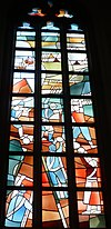 haarlem bavokerk grote markt- beleg raam - friso ten holt 1980