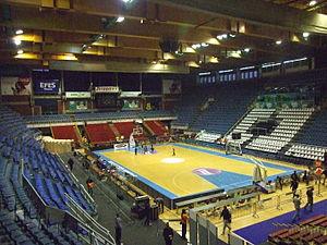 KK Partizan - Aleksandar Nikolić Hall, home arena of the KK Partizan since 1992.