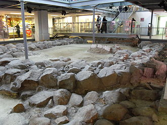 Gdańsk - Excavated remains of 12th century buildings in Gdańsk