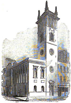 All Hallows, Bread Street - Image: Hallows bread godwin