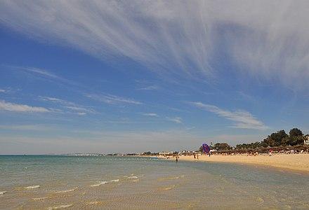 Hammamet-Sud (Tunisia): the beach