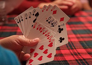 Cheat (game) - Image: Hand of cards