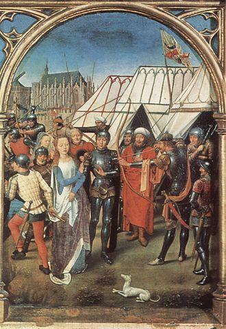 Saint Ursula - Hans Memling, The Martyrdom of Saint Ursula