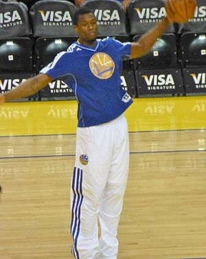 Harrison Barnes - Barnes warming up with Golden State in 2013