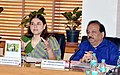Harsh Vardhan along with the Union Minister for Women and Child Development, Smt. Maneka Sanjay Gandhi chairing the 22nd meeting of the Central Supervisory Board (CSB) under PC and PNDT Act, in New Delhi on October 13, 2014.jpg