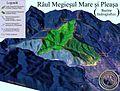 Harta 3D pentru Bazinul Raului Megiesul si Pleasa, afluenti ai Oltului.jpg