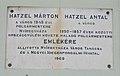 Hatzel Márton és Hatzel Antal emlékére (1969), 2017 Nyíregyháza.jpg