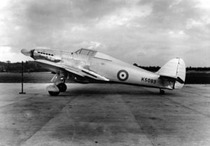 Hawker Hurricane - K5083, the prototype, photographed before its first flight in November 1935