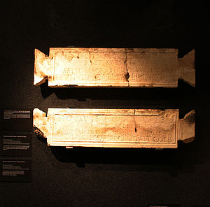 Tabula ansata - tabulae ansatae from the sanctuary of Isis and Magna Mater in Mainz